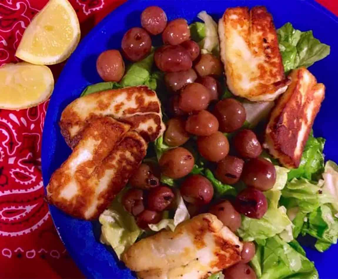 Salty & Sweet Salad With Grilled Grapes &#038...